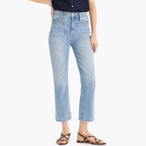 Point sur j crew light wash kickout crop jeans